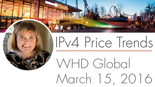 IPv4 Price Trends, presented at World Hosting Days Global 2016